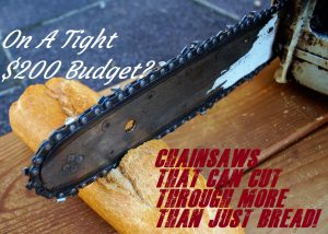 The Best Chainsaws For Under $200 Dollars